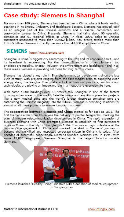 Siemens en Shanghái China