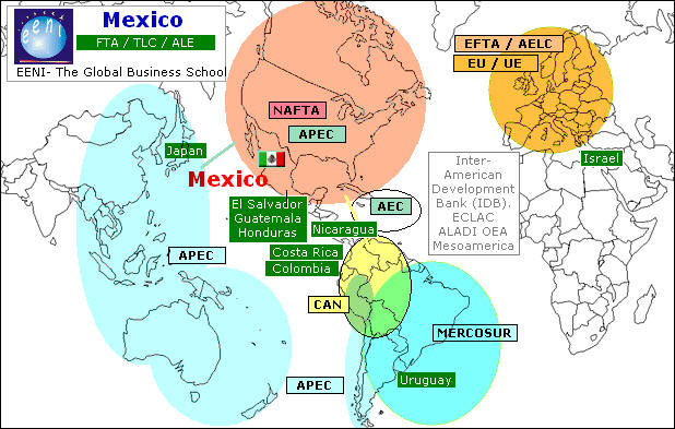 mexico's free trade agreements The north american free trade agreement (nafta) general information as of january 1, 2008, all tariffs and quotas were eliminated on us exports to mexico and canada under the north american free trade agreement (nafta.