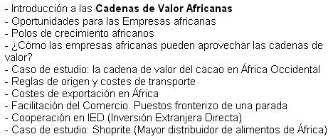 Cadenes valor africanes