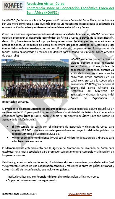 Master Online: Comerç exterior Corea del Sud-Àfrica