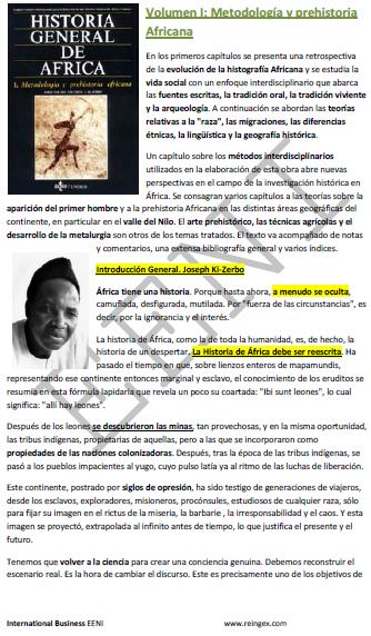 Metodologia e Pré-história africana