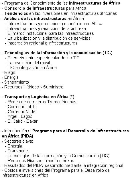 Àfrica infraestructures