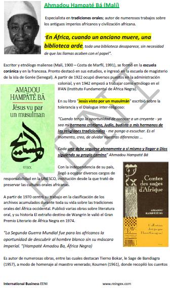 Amadou Hampaté Bá historiador e poeta maliano
