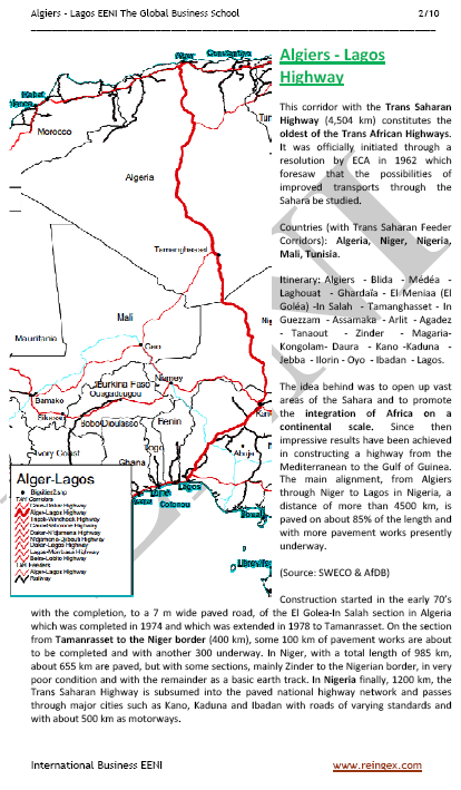 Curs Transport: Corredor Argel-Lagos (Carretera Transahariana)