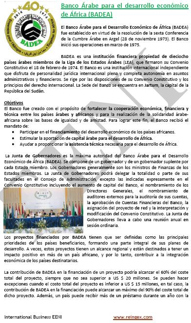 Banc Àrab Desenvolupament Econòmic de l'Àfrica (BADEA)