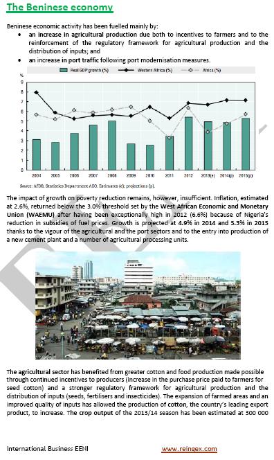 Curs Màster: negocis a Benín