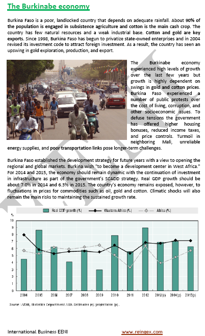 Curs: Fent negocis Burkina Faso