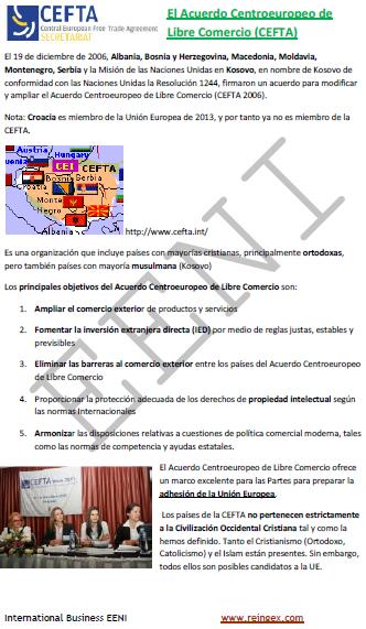 Acordo Centro-europeu de Livre-comércio (Curso)