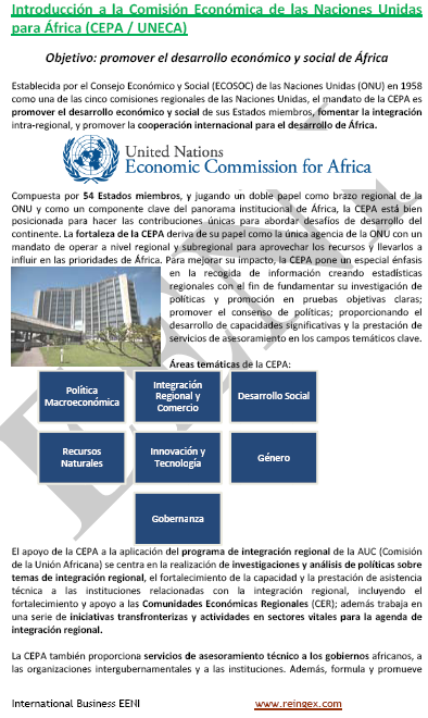 CEPA Comissió Econòmica per a l'Àfrica