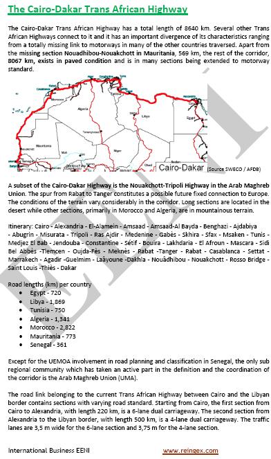 Curs Transport: Corredor El Caire-Dakar (Carretera Transafricana)