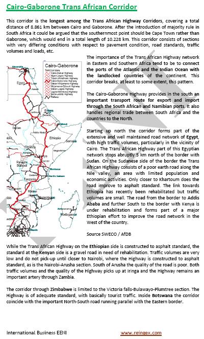 Curs Transport: Corredor El Caire-Gaborone (Carretera Transafricana)