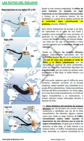 Curso Mestrado: Comércio de escravos africanos