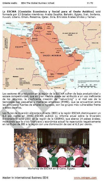 Master Curs: Comissió Econòmica Oest Asiàtic ESCWA