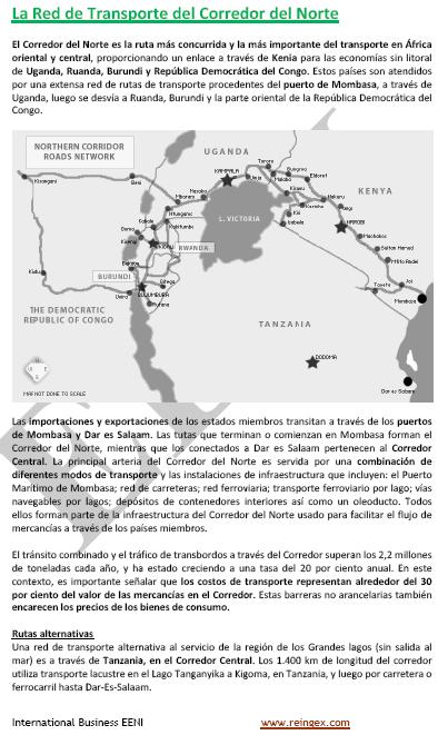 Curs Transport: Corredor Africà del Nord