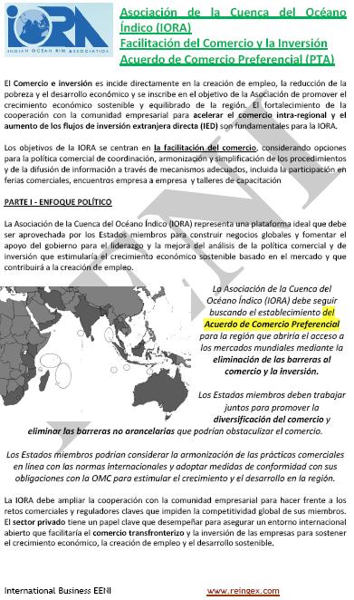 Curs Master: Associació de la Conca de l'Oceà Índic (IORA)