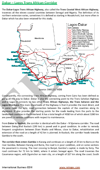 Curs Transport: Corredor Transafricà Dakar-Lagos
