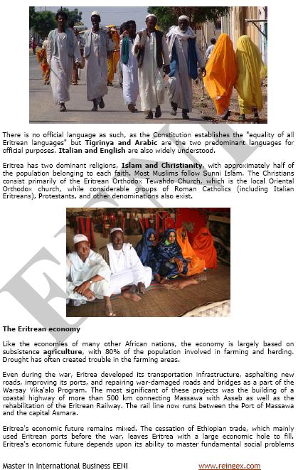 Comerç exterior i negocis a l'Eritrea