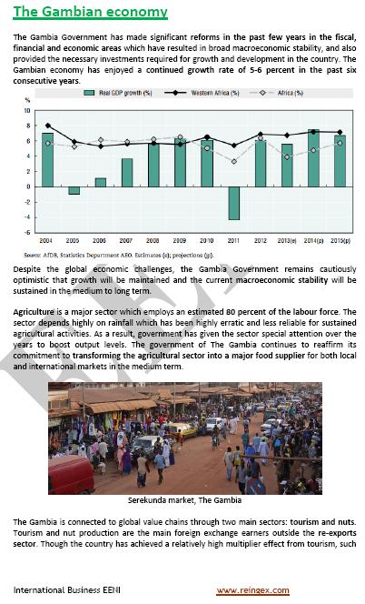 Curs Màster: negocis a Gàmbia