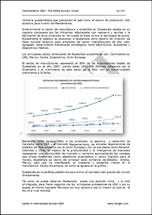 Example of the course Doing business in Guatemala (Spanish):