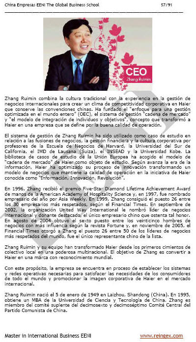 Haier China Zhang Ruimi