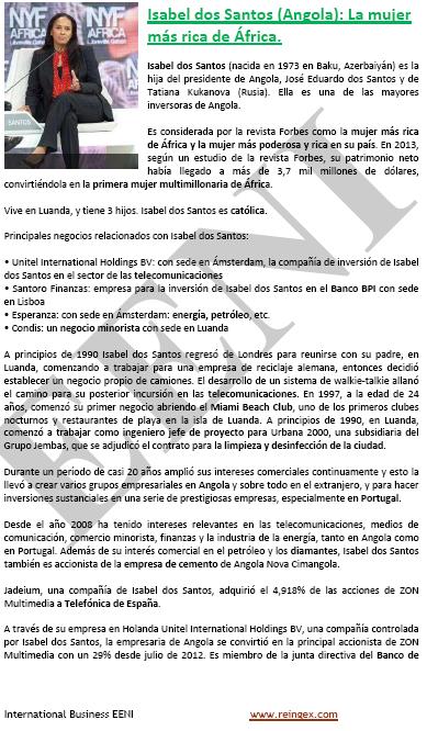 Isabel dos Santos (la dona més rica de l'Àfrica, curs)