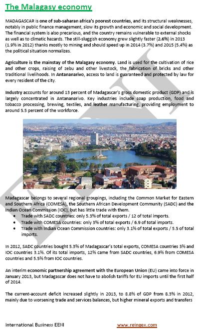 Curs Màster: negocis a Madagascar