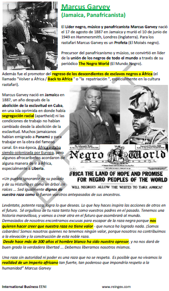 Marcus Garvey pan-africanismo