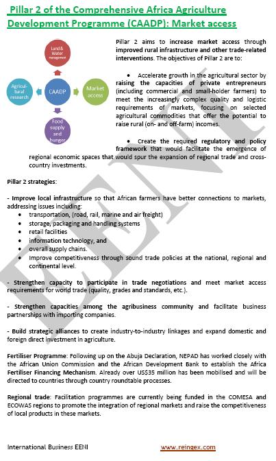 NEPAD Programa de desenvolupament de l'agricultura a l'Àfrica