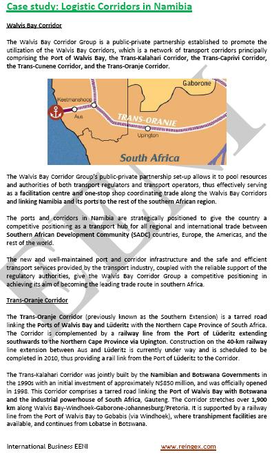 Curs Transport: Corredors logístics a Namíbia