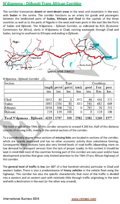 Curs Transport: Corredor N'Djamena-Djibouti Carretera Transafricana
