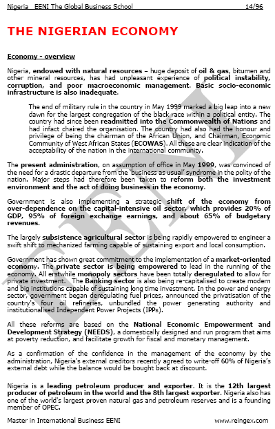 Economia nigeriana