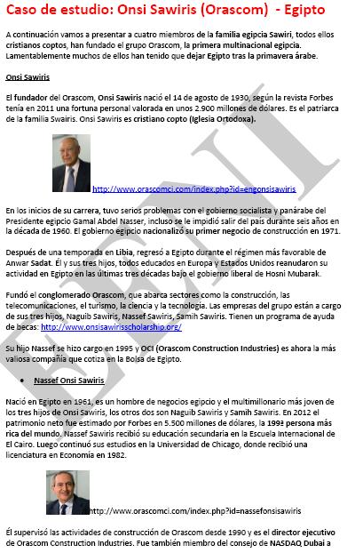 Onsi Sawiris, empresari egipci