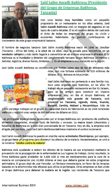 Said Bakhresa (home de negocis tanzà)