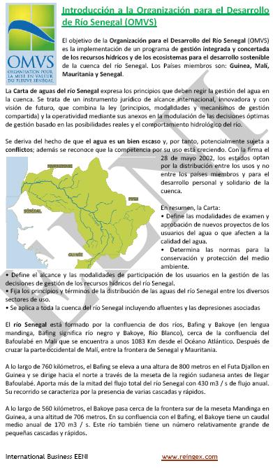 Curs Online: Organització per al Desenvolupament del Riu Senegal