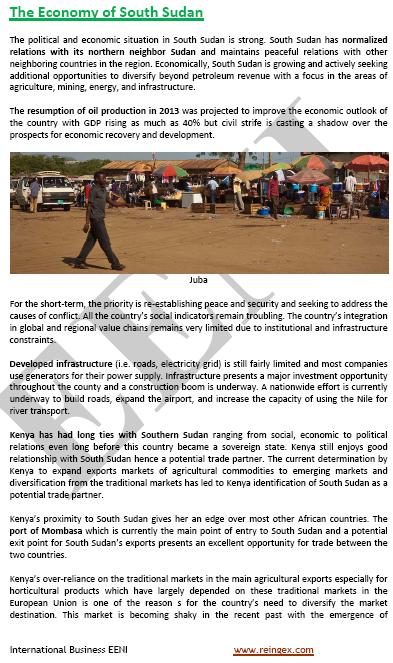 Curs Màster: negocis al Sudan del Sud