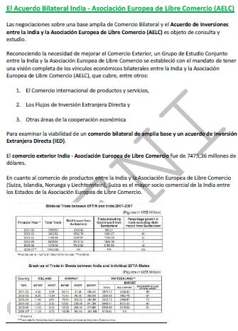 Curso: Acordo de Livre-Comércio Índia-AELC