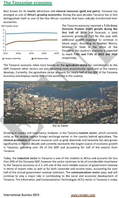 Màster Curs: Economia tanzana