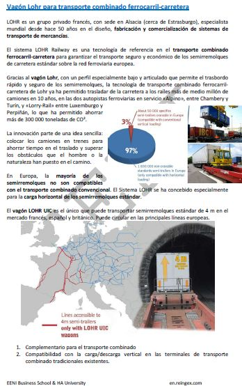 Transporte multimodal, curso