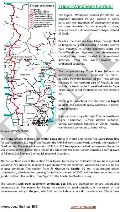 Curs Transport: Corredor Trípoli-Windhoek (Carretera Transafricana)