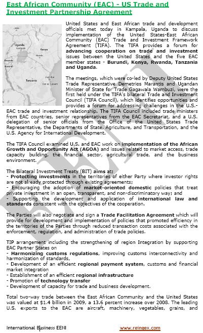 Estats Units-Àfrica Oriental Tractat de lliure comerç (Curs)