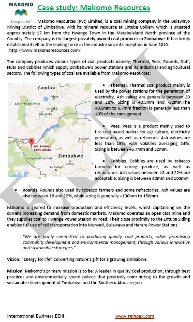 Comerç exterior i negocis a Zimbàbue
